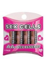 BATTERIES - 4 AA ALKALINE SEX CELLS