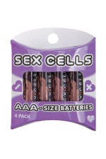 BATTERIES - 4 AAA ALKALINE SEX CELLS