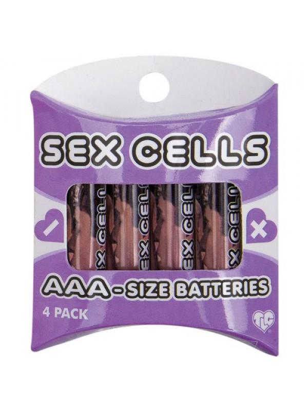 BATTERIES - 4 AAA ALKALINE SEX CELLS