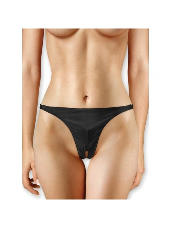 Εσώρουχο με Δόνηση - PANTY WITH VIBRATING BULLET BLACK S4F03786