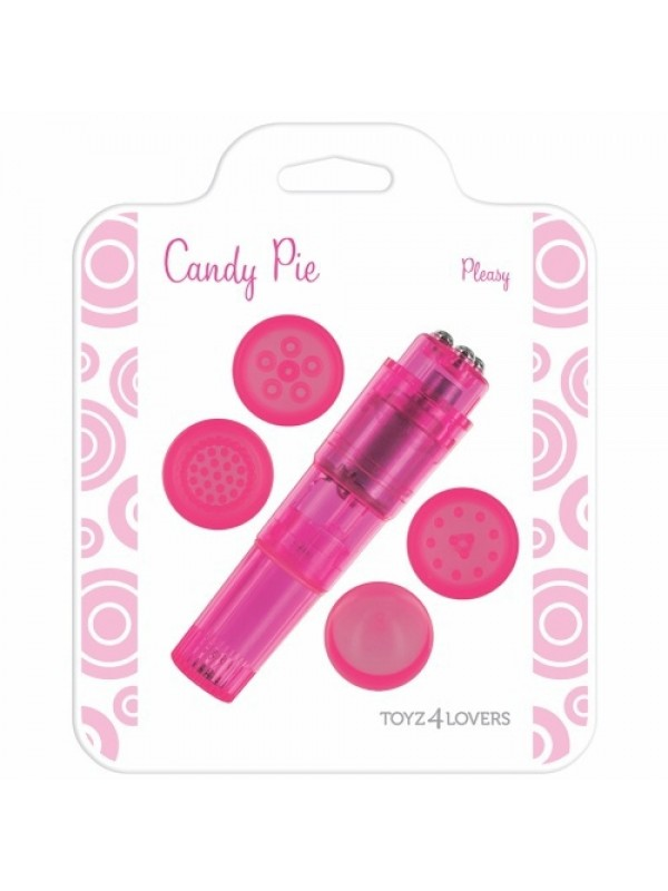 Δονητής - CANDY PIE PLEASY VIBRATOR PINK S4F04377