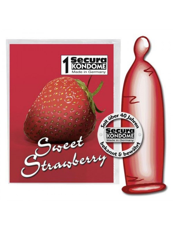 SWEET STRAWBERRY CONDOMS (1 ΤΕΜ) S4F08334